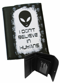 Alien Dont Believe In Humans Mens Wallet