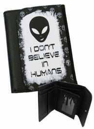 Alien Dont Believe In Humans Mens Wallet