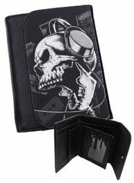 Headphone Skull Mens Wallet