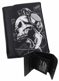 Headphone Skull Mens Wallet