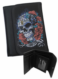 Mexican Sugar Skull Mens Wallet
