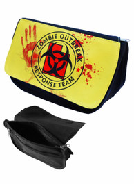 Zombie Outbreak Yellow Zip Up Make Up Bag/Pencil Case