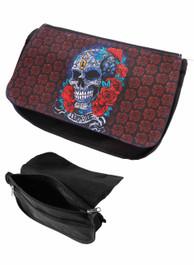 Mexican Sugar Skull Zip Up Make Up Bag/Pencil Case