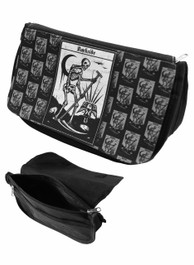 Death Tarot Card Zip Up Make Up Bag/Pencil Case