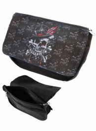 Voodoo Skull Zip Up Make Up Bag/Pencil Case