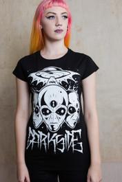 Triple Alien Womens T Shirt