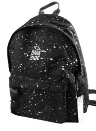 Black with Silver Splatter Backpack