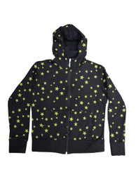 Green Star Womens Zip Hood
