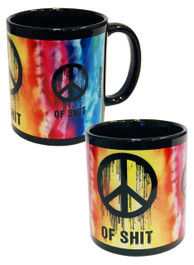 Tie Dye Peace Of Shit Mug