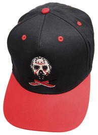 Jason Red and Black Snapback Cap