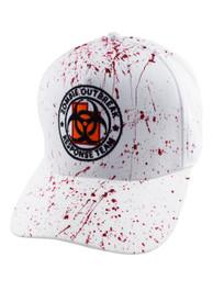 Zombie Response White Blood Splatter Snapback Cap