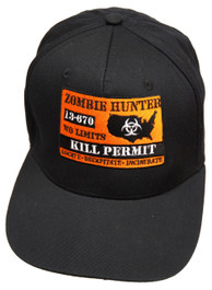Zombie Hunter Black Snapback Cap