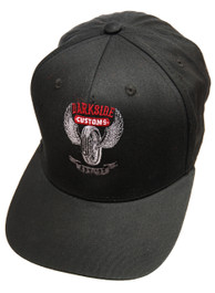 Wing Wheel Black Snapback Cap