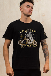 Chopper Supply Company Mens Embroidered T Shirt