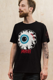 Eyeball Mens Embroidered T Shirt