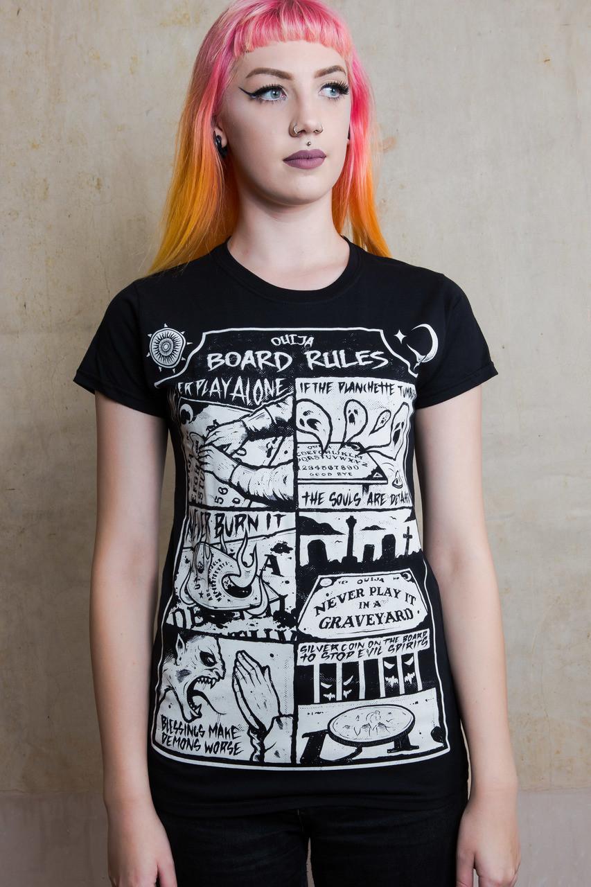 Ouija Board Rules Womens T Shirt