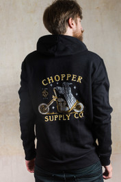 Chopper Supply Company Embroidered Fleece Hood