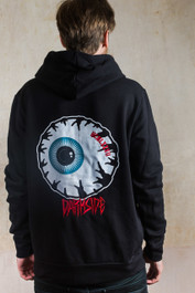 Eyeball Embroidered Fleece Hood