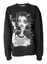 Mugshot Black Sweatshirt
