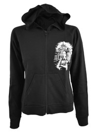 Wednesday Womens Skinny Zip Hood