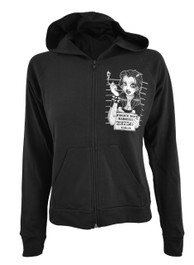 Mugshot Womens Skinny Zip Hood