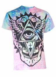 All Seeing Eye Pastel Rain Tie Dye T Shirt
