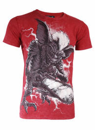 Gremlin Red Burnout T Shirt