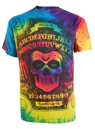 Ghoul Ouija Board Rainbow Tie Dye T Shirt