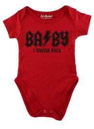 Red Wanna Rock Baby Grow