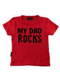 Red My Dad Rocks Kids T-Shirt