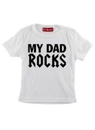 White My Dad Rocks Kids T-Shirt
