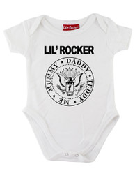 White Lil Rocker Baby Grow