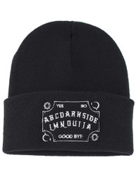 Ouija Board Embroidered Slogan Beanie Hat
