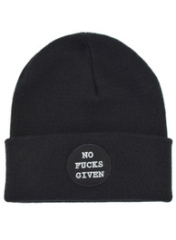 No Fucks Given Embroidered Beanie Hat