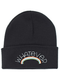 Whatever Rainbow Embroidered Beanie Hat