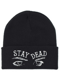 Stay Dead Eyes Embroidered Beanie Hat