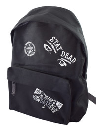 Stay Dead Multipatch Embroidered Black Backpack