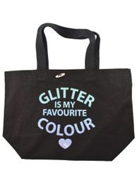 Glitter Is My Favourite Colour Tote Bag with Glitter Ink