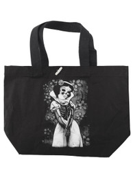 Snow White Skeleton Tote Bag