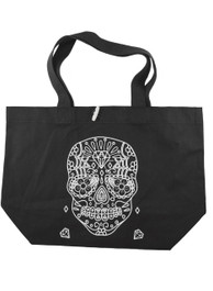 Mexican Sugar Skull Outline Tote Bag