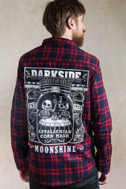Corn Mash Moonshine Checked Flannel Shirt