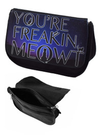 Freakin Meowt Zip Up Make Up Bag/Pencil Case