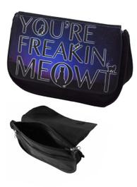 Freakin Meowt Zip Up Make Up Bag/Pencil Case