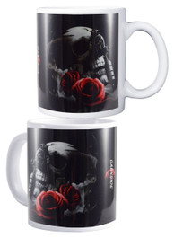 Tattoo Gun Skull and Rose Mug