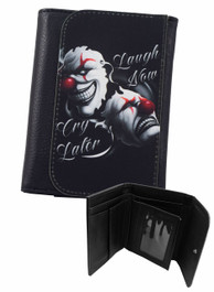 Laugh Now Cry Later Clowns Wallet
