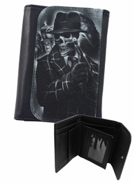 Gangster Skeleton Mens Wallet