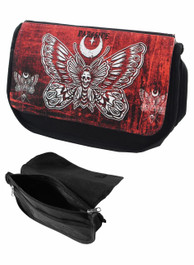 Death Moth Zip Up Pencil Case/Make Up Bag