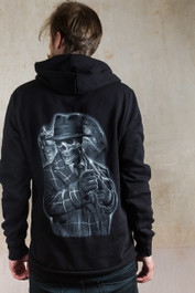 Gangster Skeleton Fleece Zip Hood
