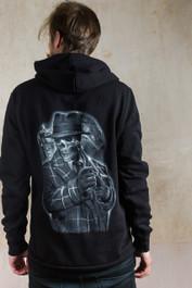 Gangster Skeleton Fleece Zip Hood