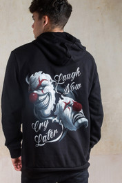 Laugh Now Cry Later Clowns Genuine Darkside Fleece Lined Zip Hood